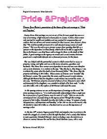 Austen Essay Topics by Austen Essay Pride And Prejudice