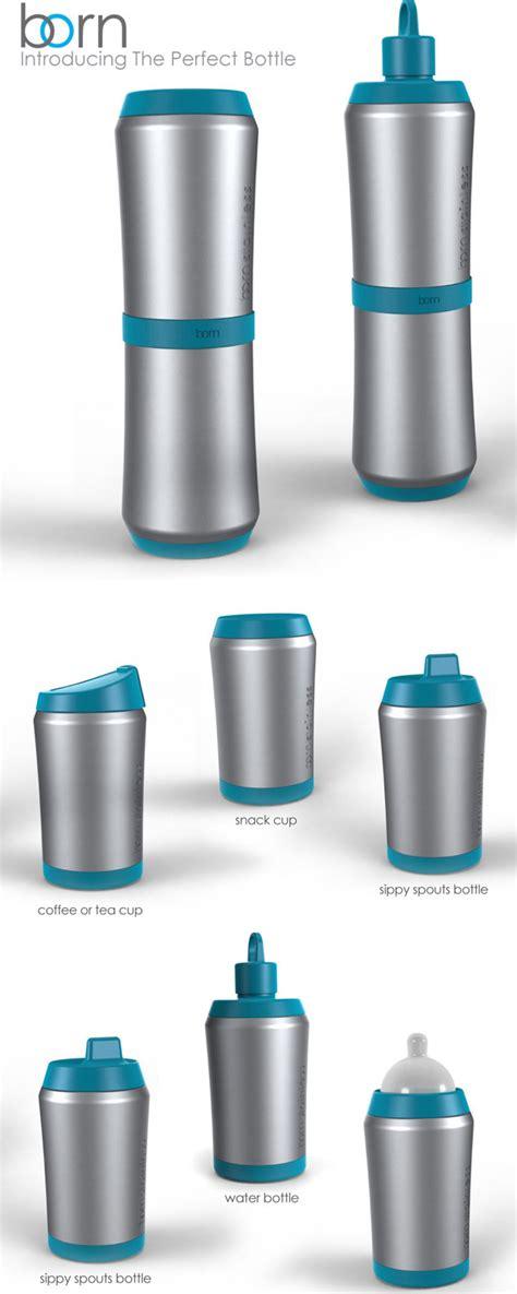 Born Perfect Bottle | a perfect bottle was born yanko design
