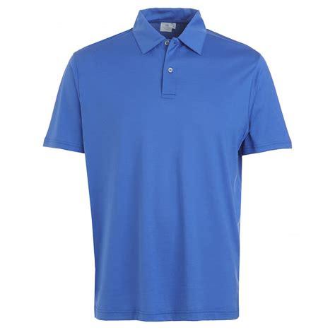 polo shirt sunspel bright blue jersey polo shirt