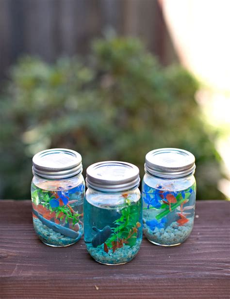 mini craft projects hello wonderful make a jar aquarium