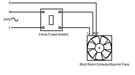 Kitchen Fan Wiring Rhl Multi Room Fan For Kitchen Bathroom And Wc
