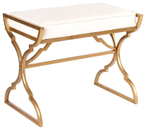 contemporary ottomans and benches milani bench gold contemporary footstools and