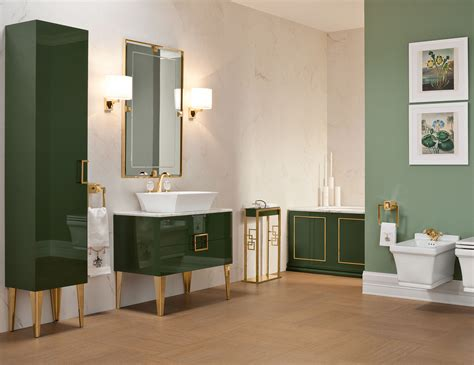 Vanity In Bathroom by Bathroom High End Vanity Wood In Forest Green Lacquer