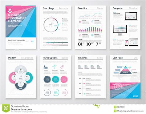 infographic business brochure templates for data