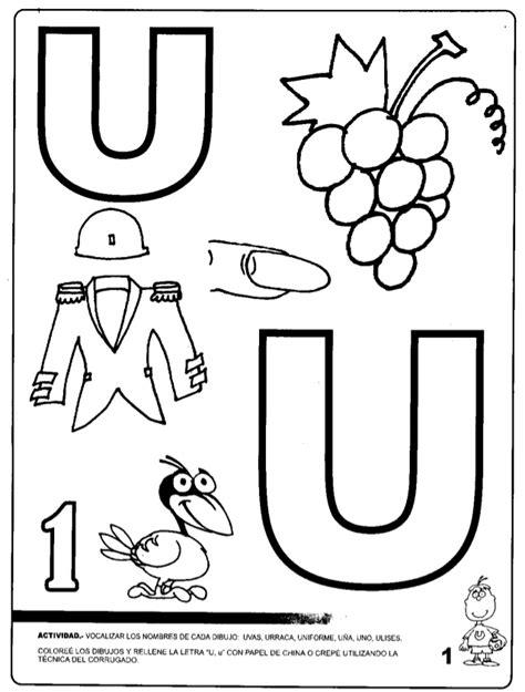 imagenes que comienzan con la letra u dibujos para colorear que empiecen con la letra u