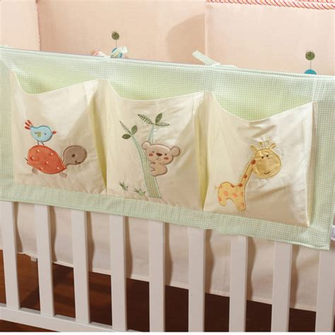 Crib Bedding In A Bag 100 Cotton Crib Organizer Baby Cot Bed Hanging Storage Bag Pocket For Newborn Crib