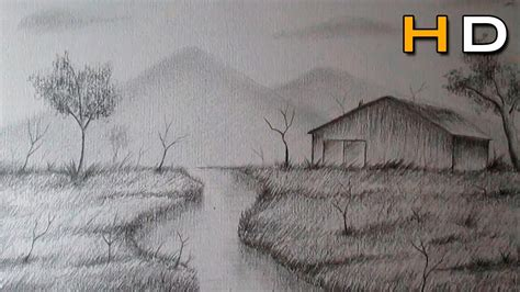 how to draw realistic landscape drawings for beginners learn how to sketch a draw a