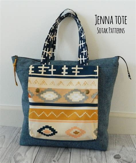 Handmade Tote Bag Patterns - s o t a k handmade tote new pdf pattern