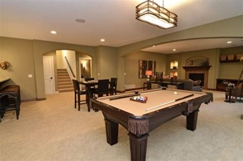 area needed for pool table a nice basement idea def need the pool table and a bar