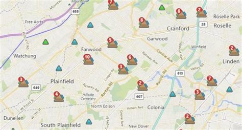 pse g outage map knocks out power in scotch plains fanwood