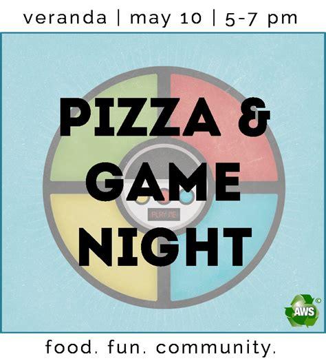 pizza  game night   cares team