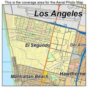 el segundo california map aerial photography map of el segundo ca california