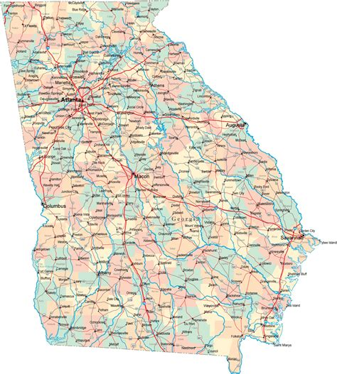 ga map road map ga road map highway map