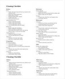 Apartment Cleaning Checklist Form New Apartment Checklist 9 Free Word Pdf Documents