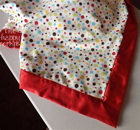 how to make a baby comforter self binding minky satin baby blanket the happy scraps