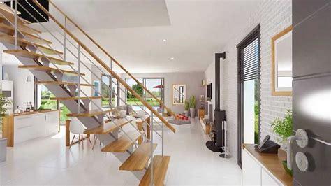 cuisine en u ouverte 1225 lumena maison lumineuse 224 toit plat du constructeur