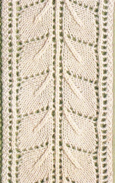 free knitted leaf patterns lace leaf panel knitting bee