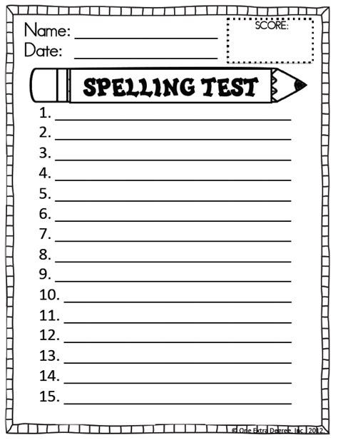 choice spelling test template reading 1st grade spelling tests 1st grade