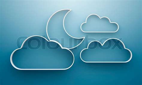 regal wolke 3d wolke und mond regale und regal design auf hintergrund