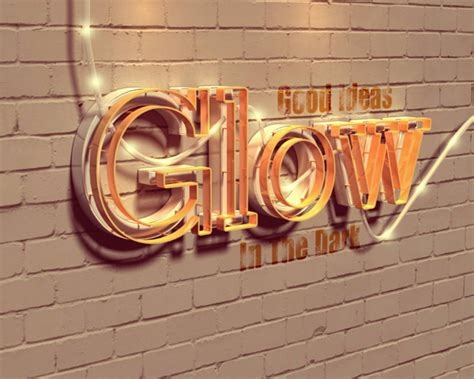 tutorial design font photoshop create a glowing 3d text effect with filter forge and
