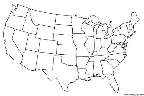 United States Coloring Pages free printable us maps for www proteckmachinery