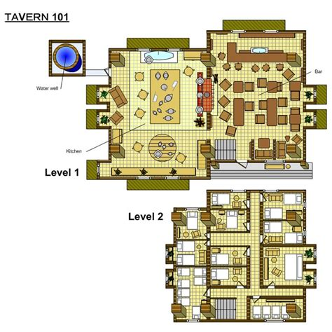 rpg floor plans its a inn rpg maps floor plans and inspiration pinterest