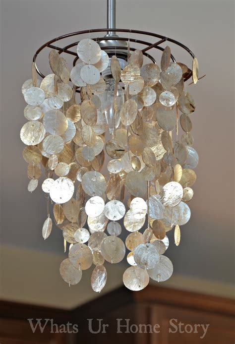 how to make a capiz chandelier