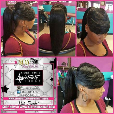 Weave Ponytails Hairstyles by Black Hairstyles With Weave Ponytails Www Pixshark