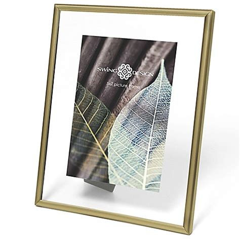 swing design frames swing design brass float 5 inch x 7 inch picture frame