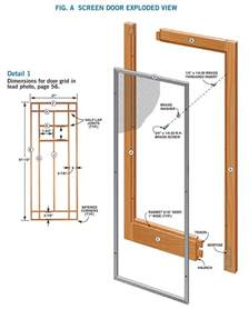 wooden screen door plans plans free