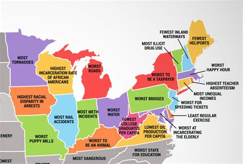 things to do in every state what every us state is the worst at
