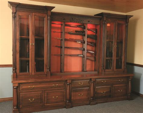 Handmade Gun Cabinet - wood working projects free access custom gun cabinets plans