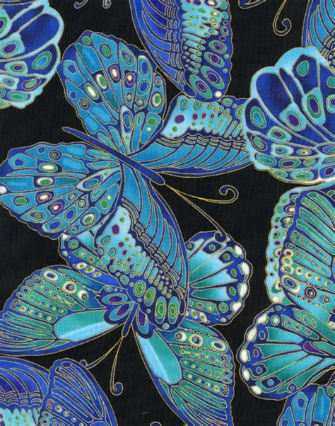 Butterfly Quilt Fabric by Timeless Treasures Shimmer Butterflies Quilt Fabric