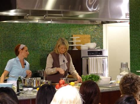martha stewart cooks in the macy s home store kitchen in