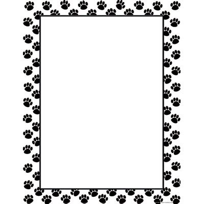 Printer Bordir Paw Border Clipart Clipart Suggest