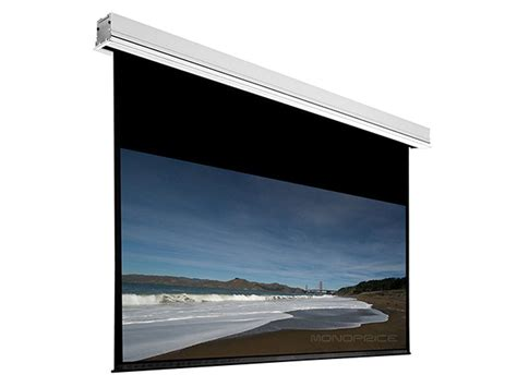Ceiling Recessed Motorized Projection Screen 120 inch 16 9 matte white fabric ceiling recessed