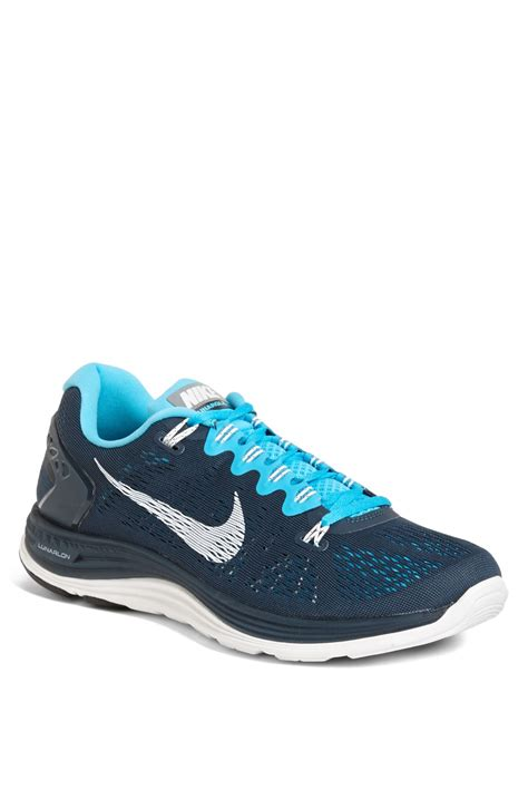 nike lunarglide mens running shoes nike lunarglide 5 running shoe in blue for armory