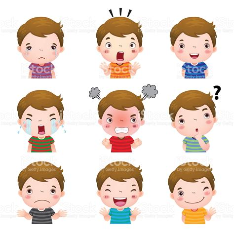 imagenes de la vida trae emociones illustration of cute boy faces showing different emotions