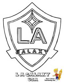 la galaxy colors soccer coloring sheets fifa usa mls west free