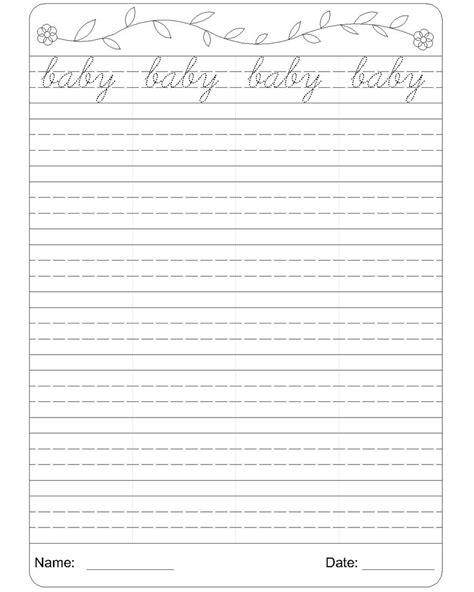 printable handwriting worksheets for grade 2 cursive writing worksheet 2