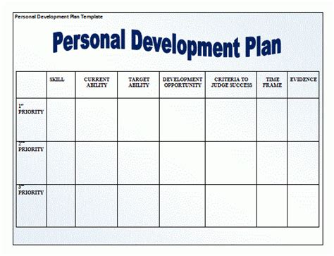 template for personal business plan 11 personal development plan templates word excel