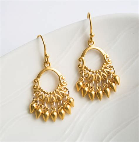 Chandelier Earrings India Gold Chandelier Earrings Gold Jewelry Bohemian Earrings