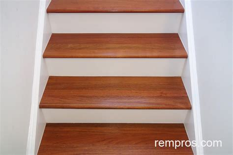 Solid Wood Kitchen Cabinets Brazilian Cherry Hardwood Steps