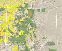 colorado land ownership map land map colorado my