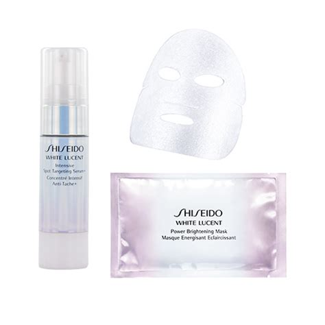 Shiseido White Lucent Intensive Brightening Mask by Shiseido White Lucent Intensive Spot Targeting Serum And