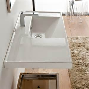 ceramic sinks bathroom large rectangular white ceramic self or wall