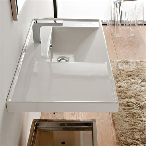 wall mounted rectangular sink large rectangular white ceramic self or wall