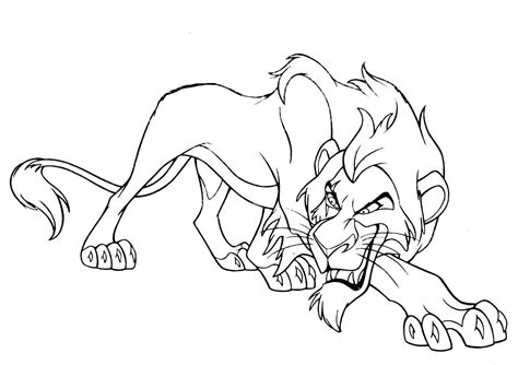 how to colour in a scar in your hairline scar lion king coloring pages inside page mufasa 2 kovu