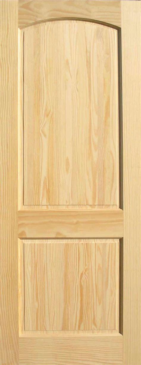 pine arch 2 panel wood interior doors homestead doors