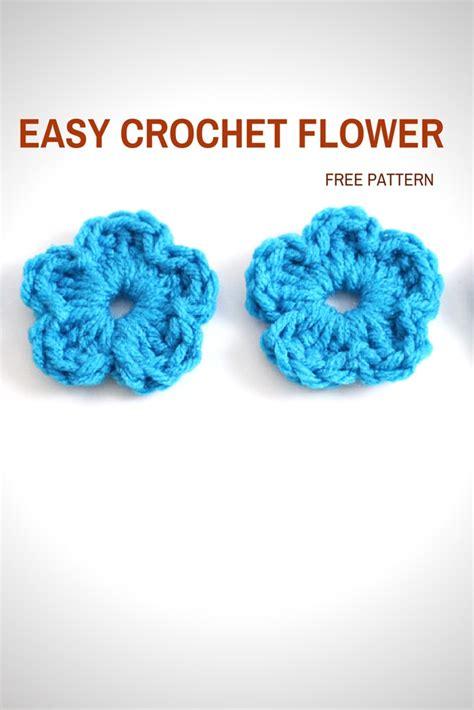crochet flower pattern easy free easy crochet flower free pattern tutorial free